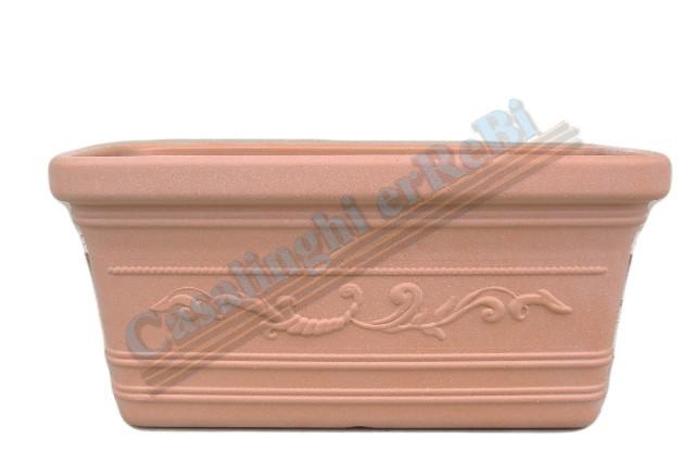 Fioriere In Plastica 80 Cm.Cassetta Lt 80 Prestige 80x40x34h Resina Adri025 Fioriere