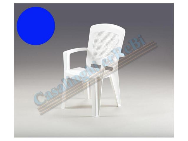 Sedie Blu Elettrico : Sedie giardino giardino sedia cross bianca 46x52x80 cm sedia