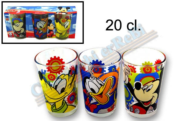 SET 3 BICCH.MICKEY & FRIENDS 011269