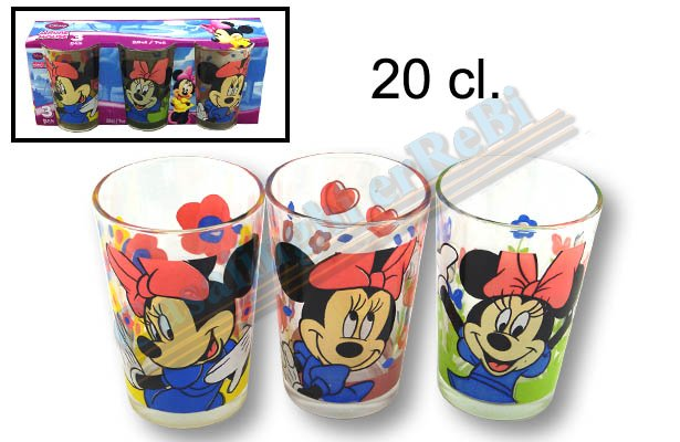 SET 3 BICCH.MINNIE 011271