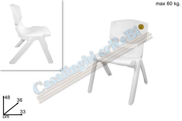 Sedia bimbo bianca art 0886 dues726 sedie bimbi - Sedia bagnetto bimbo ...