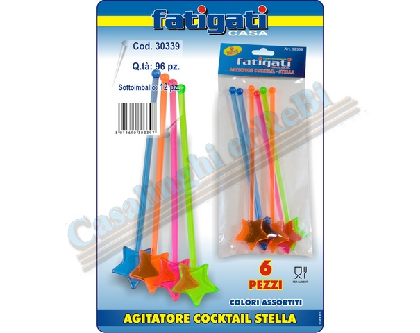 AGITATORE COCKTAIL 6PZ STELLA