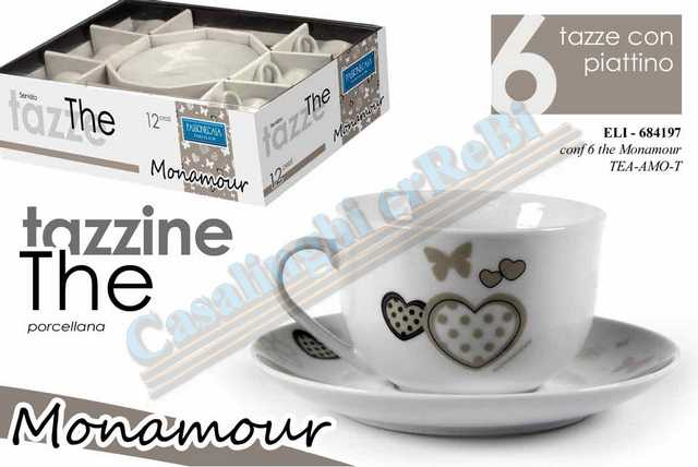 TAZZA THE 6PZ MONAMOUR TEA-AMO-T    684197