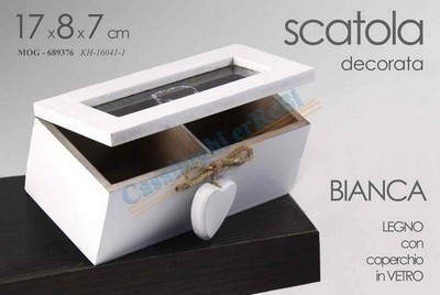 SCATOLINA THE BIANCA 2 POSTI CM.16X8X7