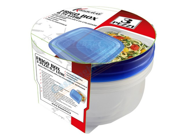 SET 3 FRIGO BOX TONDO LT.0,75 12