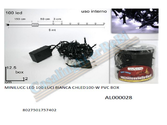 MINILUCC LED 100 LUCI BIANCA CHLED10