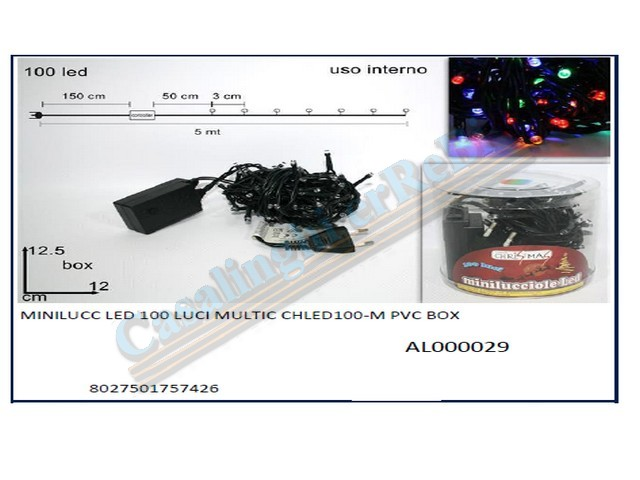MINILUCC LED 100 LUCI MULTIC CHLED10