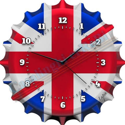 *OROLOGIO LONDON\'S FLAG 30X30