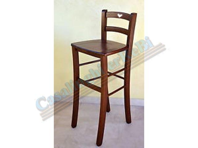 Sgabello legno massello snack h sed sedie legno