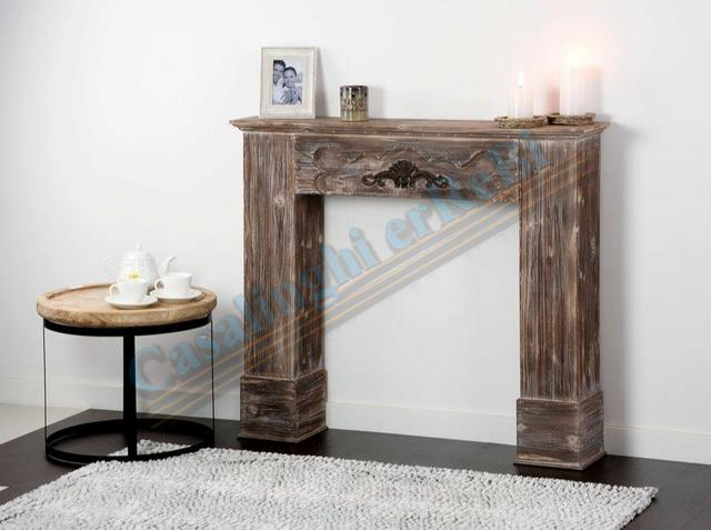 CONSOLE CAMINETTO MARR.110X23X96H   37349 SHABBY CHIC AD TREND