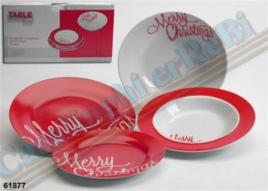 19PZ TONDO RED MERRY CHRISTMAS DES